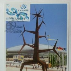 Sellos: TARJETA POSTAL. PORTUGAL. MATASELLOS EXPO 1998. LISBOA.. Lote 33439997