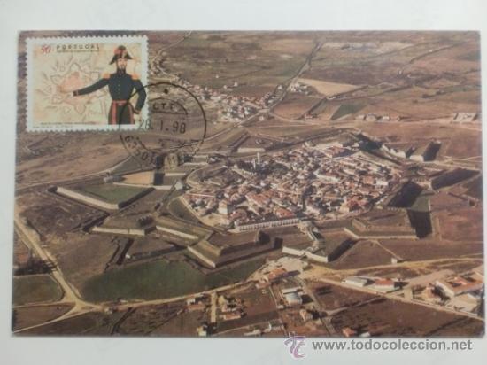 TARJETA POSTAL. PORTUGAL. MATASELLOS ALMEIDA. 1998. VISTA AEREA ALMEIDA. (Sellos - Historia Postal - Sellos otros paises)