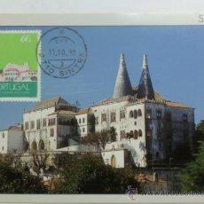 Sellos: TARJETA POSTAL. PORTUGAL. MATASELLOS SINTRA 1990. PALACIO NACIONAL.. Lote 33442655