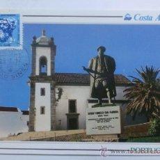 Sellos: TARJETA POSTAL. PORTUGAL. MATASELLOS SINES. 1992. COSTA AZUL.. Lote 33442711