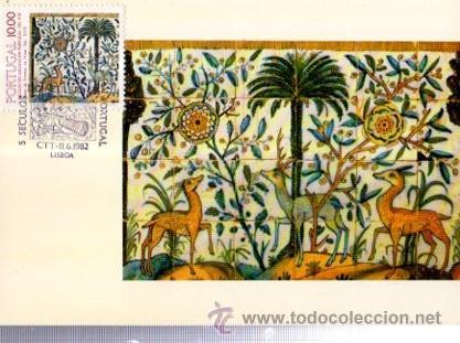 TARJETA MÁXIMA LISBOA, SECULOS DO AZULEJO PORTUGAL, MATASELLOS 1982 (Sellos - Historia Postal - Sellos otros paises)