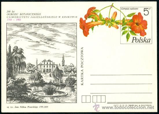 TARJETA FLORA - POLONIA 1983 (Sellos - Historia Postal - Sellos otros paises)