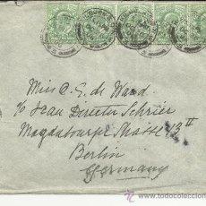 Timbres: INGLATERRA KILBURN CC A BERLIN 1906 AL DORSO MAT LLEGADA . Lote 35243739