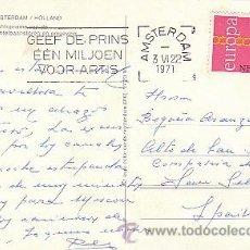 Sellos: HOLANDA, UN MILLÓN EN PREMIOS PARA LAS ARTES, MATASELLO DE 3-6-1972. Lote 35451756
