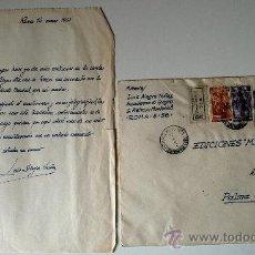 Sellos: SOBRE CIRCULADO DESDE ROMA A PALMA DE MALLORCA. CORRESPONDENCIA DEL ARTISTA LUIS ALEGRE NUÑEZ. . Lote 35738448