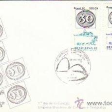 Sellos: BRASIL 1871/3, 140 ANIVERSARIO DEL SELLO OJO DE BUEY, BRASILIANA, EXPO UNIVERS, PRIMER DIA 29-7-1983. Lote 37038652