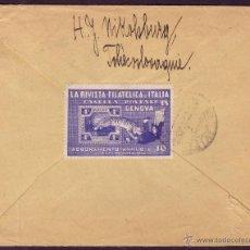 Sellos: CHECOSLOVAQUIA /1925. SOBRE DE NIKOLSBURG A MADRID. MARCA *DESCANSO/DOMINICAL/REPARTO ÚNICO*. VIÑETA. Lote 27118145
