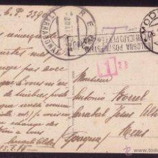 Sellos: ITALIA. 1919. T. P. DE MÓDENA A REUS (TARRAGONA).SIN SELLOS.DIVERSAS MARCAS.TASADA.MAGNÍFICA Y RARA.. Lote 27256396
