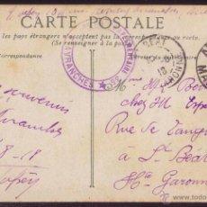 Sellos: FRANCIA. 1918. T. P. DE AVRANCHES A SL. BEAT. FRANQUICIA * ...COMPLEMENTAIRE 35/AVRANCHES * VIOLETA.. Lote 38330388