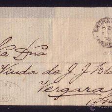 Sellos: REINO UNIDO.(CAT. 56).1878.CUBIERTA DE LIVERPOOL A VERGARA (ESPAÑA). 2 1/2 D. MAT. DUPLEX 466.BONITA. Lote 24517372