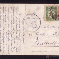 Sellos: ALEMANIA.(CAT.69+VIÑETA).1913.T.P.DE FRANKURT A ESPAÑA.VIÑETA ESPERANTO+SELLO PERFORACIÓN COMERCIAL.. Lote 27256462
