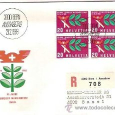 Sellos: FDC SUIZA 3000 BERN AUSGABETAG 50 JHARE SCHWEIZER MUSTERMESSE BASEL 1966. Lote 40851013