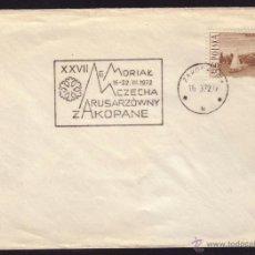 Sellos: POLONIA. 1972. SOBRE. 60 GR. MATASELLO CONMEMORATIVO. MAGNÍFICO.. Lote 41027251