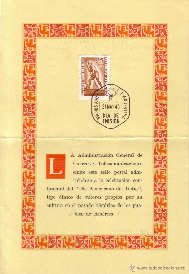 ARGENTINA. 1948 (21 MAY). TARJETA. 25 C. MAT. PRIMER DÍA. MAGNÍFICA. (Sellos - Historia Postal - Sellos otros paises)