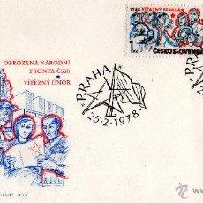 Sellos: SOBRE CON DOS SELLOS Y MATASELLOS ESPECIAL - CHECOSLOVAQUIA - AÑO 1978.. Lote 44788113