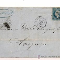 Sellos: SOBRE CIRCULADO CARTA DE NAPOLEÓN III DEL AÑO 1863 CON SELLO Nº 22 YV.. Lote 47365619