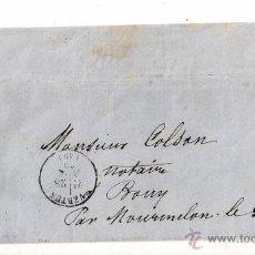 Sellos: SOBRE CIRCULADO CARTA DE NAPOLEÓN III DEL AÑO 1869 CON SELLO Nº 22 YV.. Lote 47366295