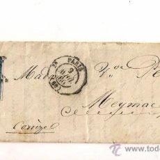 Sellos: SOBRESCRITO CIRCULADO CARTA DE NAPOLEÓN III DEL AÑO 1866 CON SELLO Nº 14B YV. TIPO II. Lote 47415069