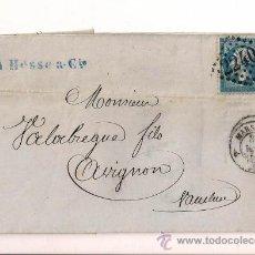 Sellos: SOBRE CIRCULADO CARTA DE NAPOLEÓN III DEL AÑO 1862 CON SELLO Nº 22 YV.. Lote 47438022