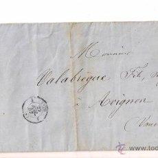 Sellos: SOBRESCRITO CIRCULADO CARTA DE NAPOLEÓN III DEL AÑO 1857 CON SELLO Nº 14A TIPO I YV.. Lote 47438045