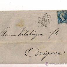 Sellos: SOBRE CIRCULADO CARTA DE NAPOLEÓN III DEL AÑO 1864 CON SELLO Nº 22 YV.. Lote 47438063