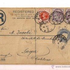 Sellos: CURIOSO SOBRE POSTAL CIRCULADO CON VARIOS MATASELLOS DE 1896 GRAN BRETAÑA. Lote 47664744