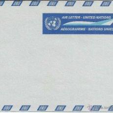 Sellos: ONU NACIONES UNIDAS AEROGRAMA . Lote 48641965