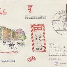 Sellos: ALEMANIA BERLIN IVERT Nº 206, EL VIEJO BERLIN: LA OPERA EN 1780, PRIMER DIA DE 6-12-1963. Lote 48905590