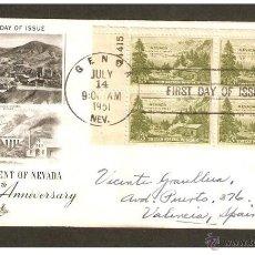 Sellos: ESTADOS UNIDOS.1951. CARTA CIRCULADA DE NEVADA ( EEUU) A VALENCIA ( ESPAÑA). Lote 50094266