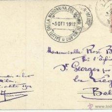 Sellos: ITALIA MILANO 1912 SALUTI DALLA MADONNINA DEL DUOMO TARJETA POSTAL. Lote 50196849