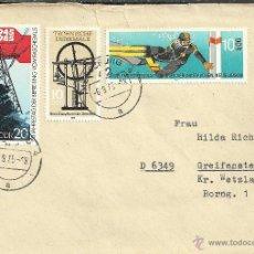 Selos: ALEMANIA DDR CC SELLO SUBMARINISMO MINERIA MINERO MAQUINA VAPOR. Lote 50556426