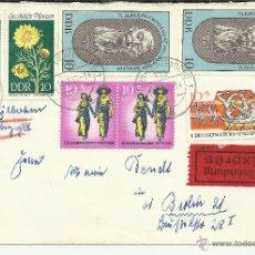 Sellos: ALEMANIA DDR BERLIN URGENTE SELLOS VIETNAM PIERRE DE COUBERTIN DEPORTE FLORES . Lote 50624086