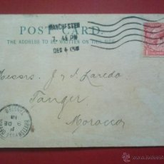 Sellos: TARJETA COMERCIAL DE MANCHESTER, GREAT BRITAIN GRAN BRETAÑA, A TANGER MARRUECOS , 4 DICIEMBRE 1913. Lote 51574689