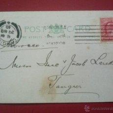 Sellos: POSTAL COMERCIAL DE LONDRES LONDON, GRAN BRETAÑA GREAT BRITAIN A TANGER, 22 27 NOVIEMBRE 1910. Lote 51574767