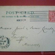 Sellos: POSTAL COMERCIAL DE MANCHESTER GREAT BRITAIN GRAN BRETAÑA A TÁNGER MARRUECOS, 25 30 NOVIEMBRE 1912. Lote 51574887