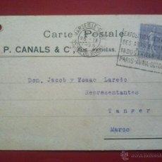 Sellos: TARJETA POSTAL COMERCIAL FRANCIA FRANCE DE MARSEILLE-GARE A TÁNGER MARRUECOS 25 SEPTIEMBRE 1925. Lote 51576084