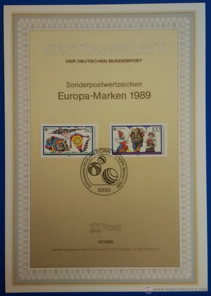 Sellos: 13 tarjetas primer día de circulación sellos de ALEMANIA - Foto 9 - 51683871