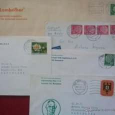 Sellos: ALEMANIA FEDERAL 4 SOBRES + 1 SOBRE BERLÍN, TODOS A BERCELONA , 1955 HASTA 1960. Lote 52548925