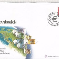 Sellos: FRANCIA CARNET EURO FDC PARIS PREMIER JOUR. Lote 52725613