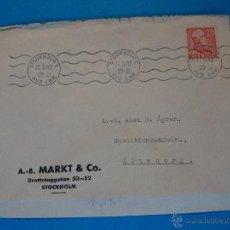 Sellos: SOBRE CIRCULADO DE ESTOCOLMO A GOTEBORG, SUECIA. AÑO 1942.. R - 497. Lote 52833651