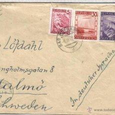 Sellos: AUSTRIA 1947 BAD HOFGASTEIN A SUECIA CON CENSURA MILITAR 3316. Lote 53940657