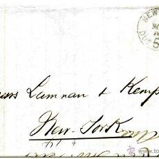 Sellos: HISTORIA POSTAL DE CUBA. CORREO AMERICANO DE SANTIAGO A NEW YORK, 1876. Lote 55011097
