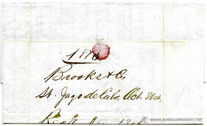 Sellos: Historia postal de Cuba. Correo americano de Santiago a New York, 1876 - Foto 2 - 55011097
