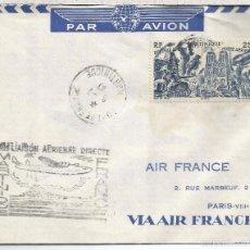 Francobolli: MARTINIQUE PRIMER VUELO DIRECTO CON FRANCIA 1947 AL DORSO MAT PARIS AVIATION. Lote 56825897