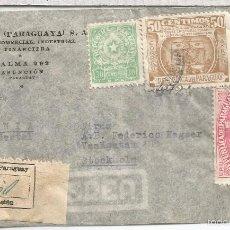 Selos: PARAGUAY ASUNCION CC CERTIFICADA SELLOS COLON FARO . Lote 56827799