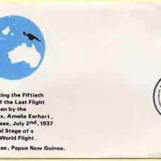Sellos: SOBRE CONMEMORATIVO DEL ÚLTIMO VUELO DE AMELIA EARHART. PAPUA NUEVA GUINEA. 02-07-1987. Lote 288381688