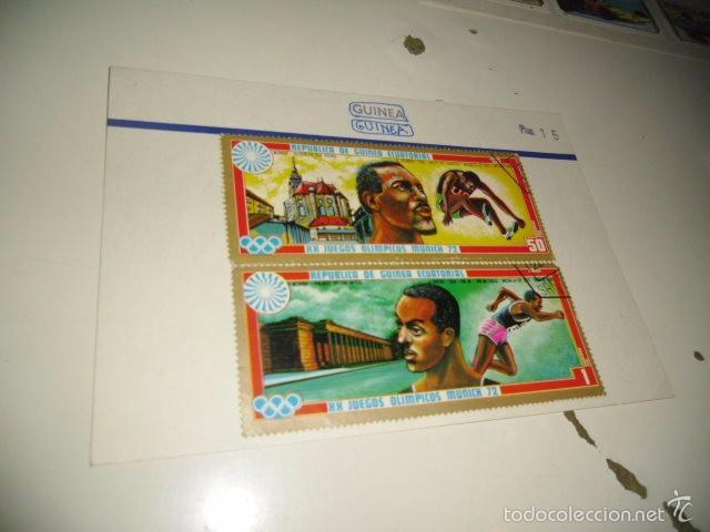 CAJA-2 SELLOS DE GUINEA LOS DE FOTO (Sellos - Historia Postal - Sellos otros paises)