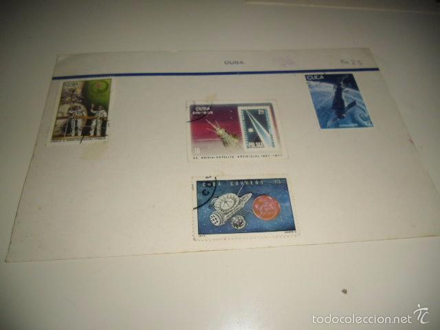 CAJA-2 SELLOS DE CUBA LOS DE FOTO (Sellos - Historia Postal - Sellos otros paises)
