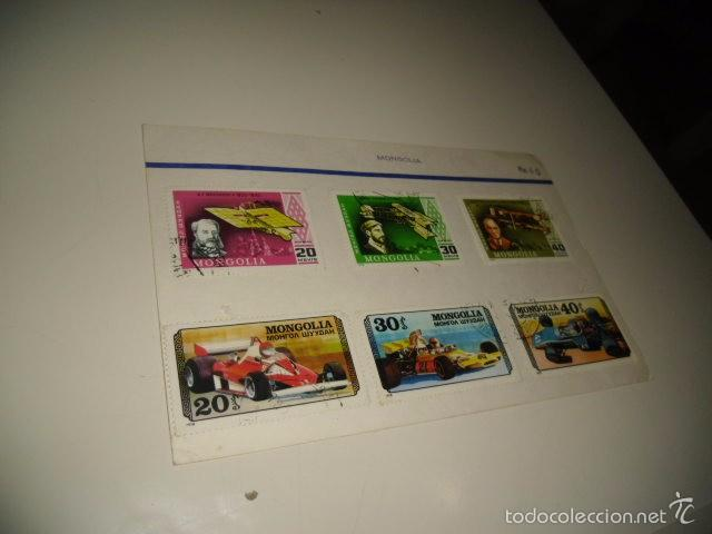 CAJA-2 SELLOS DE MONGOLIA 30 LOS DE FOTO (Sellos - Historia Postal - Sellos otros paises)