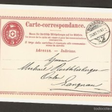 Sellos: SUIZA. 1985. CARTA POSTAL. CARTA-CORRESPONDANCE. Lote 57273982